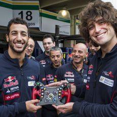 Daniel Ricciardo se despide de Toro Rosso