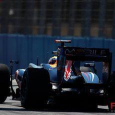 Webber en carrera