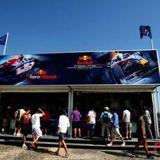 El stand de Red Bull