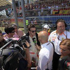Alonso durante la entrevista de La Sexta