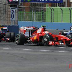 Raikkonen en el GP de Europa
