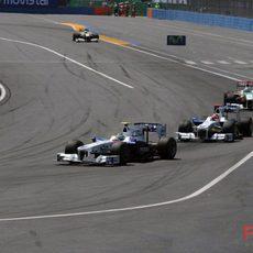 Los dos BMW en carrera
