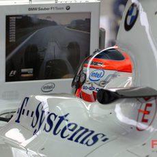 Kubica en su BMW
