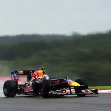 Webber en la pista