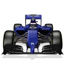Render frontal bajo del nuevo Williams FW36