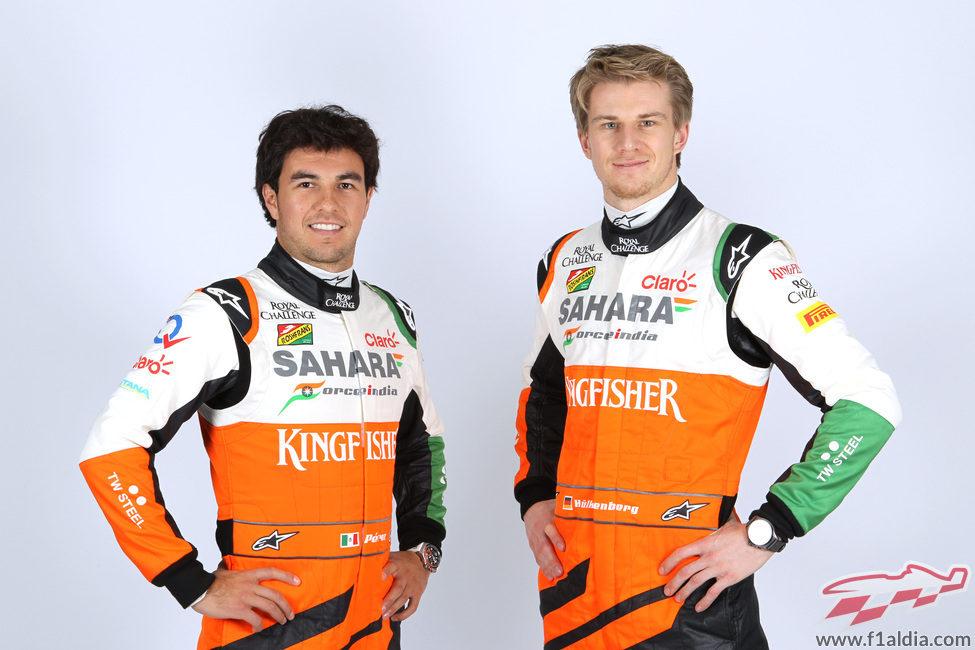 Sergio Pérez y Nico Hülkenberg, pilotos de Force India para 2014