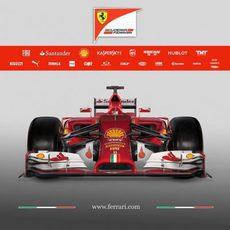 Vista frontal del Ferrari F14-T