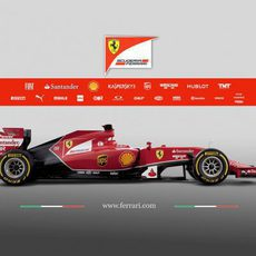 Vista lateral del Ferrari F14-T