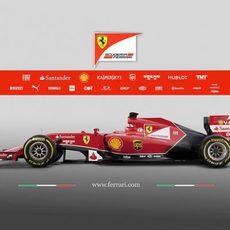Segunda vista lateral del Ferrari F14-T