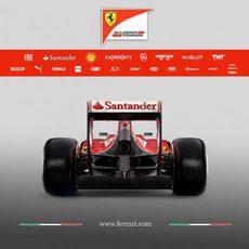 Vista trasera del Ferrari F14-T