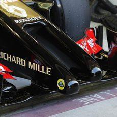 El morro del nuevo Lotus E22