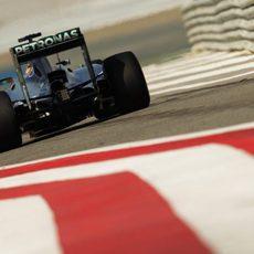 Parte trasera del Mercedes de Lewis Hamilton