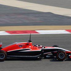 El Marussia de Jules Bianchi sumó tres vueltas