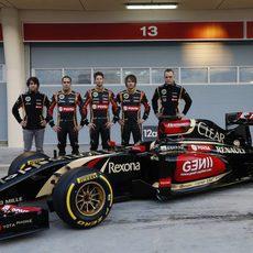 El quinteto de pilotos de Lotus