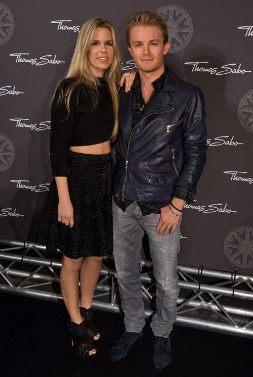 Nico Rosberg y su novia Vivian Sibold