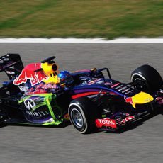 Parafina verde en el coche de Sebastian Vettel