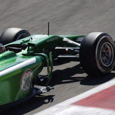 Kamui Kobayashi rueda en el último test de pretemporada