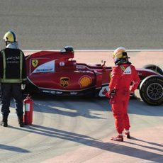 Fernando Alonso protagoniza una bandera roja