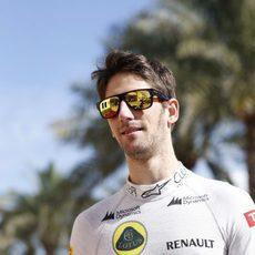 Romain Grosjean se prepara para el último día de pretemporada