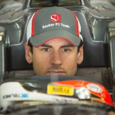 Adrian Sutil preparado para el último día de test