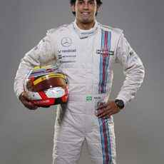 Felipe Nasr sonríe con sus nuevos colores de Williams Martini Racing