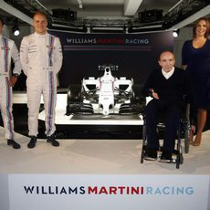 Valtteri Bottas, Felipe Massa y los Williams, junto al FW36