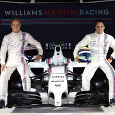 Valtteri Bottas, Felipe Massa junto al Williams Martini FW36