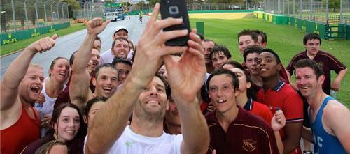 El 'selfie' de Mark Webber