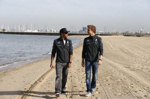 Paseo por la playa para los chicos de Mercedes