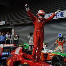 Räikkönen acaba primero en el GP de Bélgica 2009