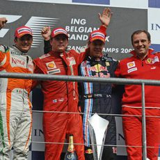 El podio del GP de Bélgica 2009