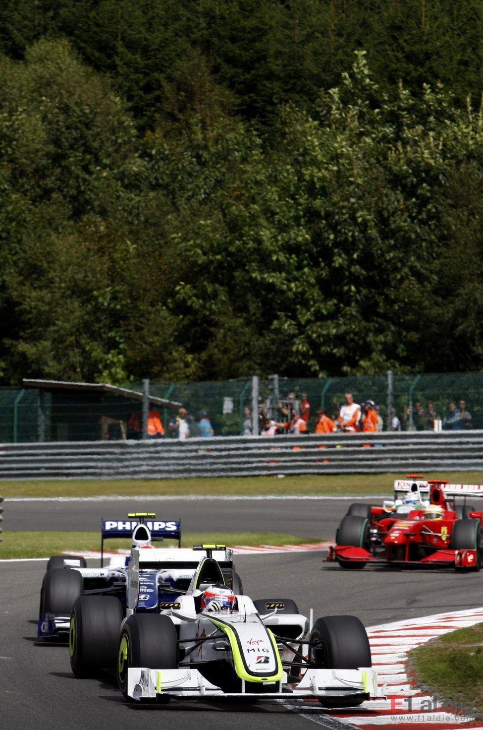 Barrichello y Nakajima