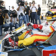 Alonso en el kart