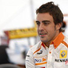 Alonso en la rueda de prensa