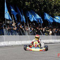 Alonso en un kart