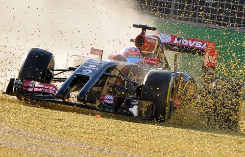 Salida de pista de Romain Grosjean al final de los Libres 2