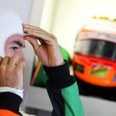 Sergio Perez preparado para salir a rodar