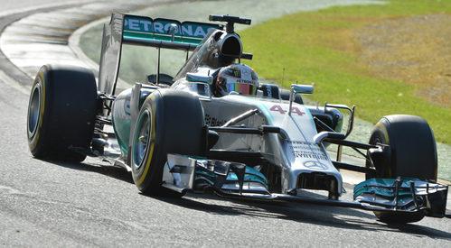 Mejor tiempo del día para Lewis Hamilton