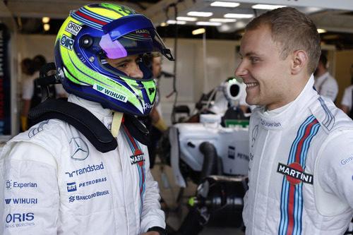Felipe Massa y Valtteri Bottas comentan sus impresiones