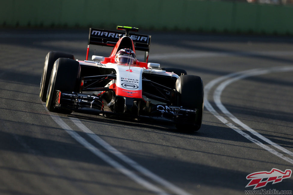 Max Chilton pilota el MR03 en Albert Park