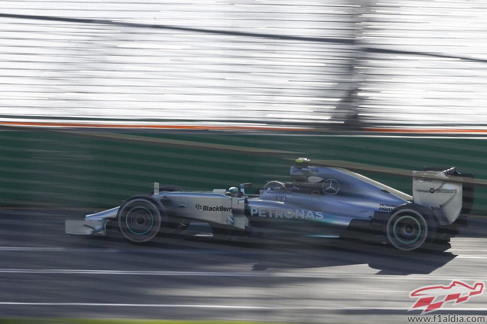 Nico Rosberg se queda con el segundo mejor tiempo