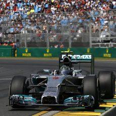 El W05 avanza en manos de Nico Rosberg