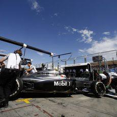 Kevin Magnussen preparado para su primera clasificación en F1