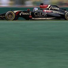 Romain Grosjean acabó frustrado en Melbourne