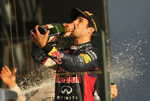 Podio en casa de Daniel Ricciardo