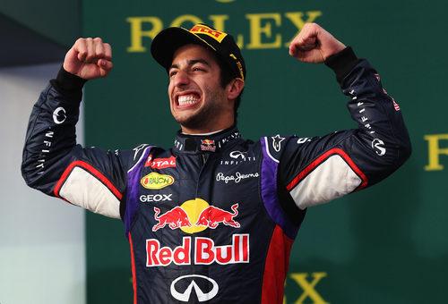 Mucha alegría de Daniel Ricciardo en su carrera de casa