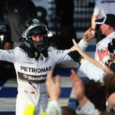 Celebración de Nico Rosberg y Mercedes