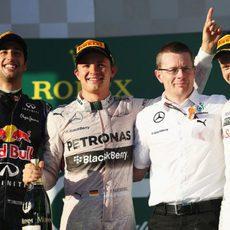 Podio del GP de Australia 2014