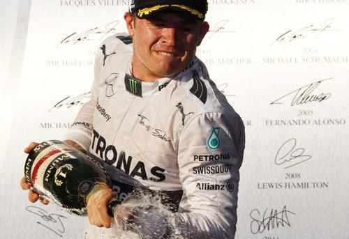 Nico Rosberg celebra su victoria en Australia