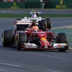 Kimi Räikkönen tuvo problemas de 'graining' en Australia